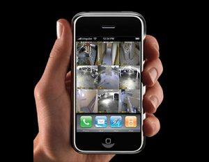 CCTV in West Palm Beach monitored by smart phone device